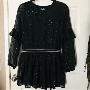 Epic Threads Girls Black Polka Dot Party Dress XL